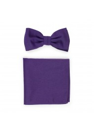 Grape Purple Bowtie Set in Matte Finish