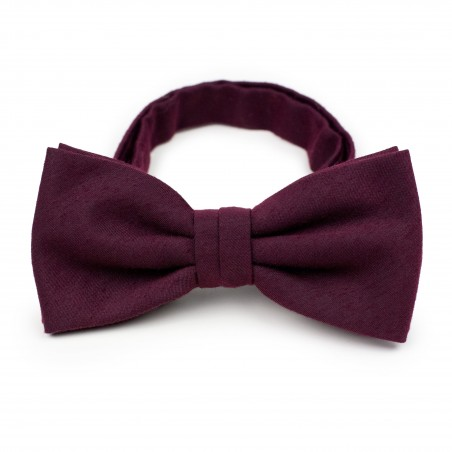 Matte Burgundy Bow Tie