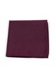 Matte Burgundy Pocket Square