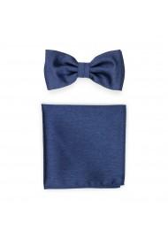 Slate Blue Bowtie Set