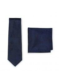 Paisley Tie Set in Midnight Navy