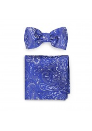 Morning Glory Paisley Bow Tie and Pocket Square Set