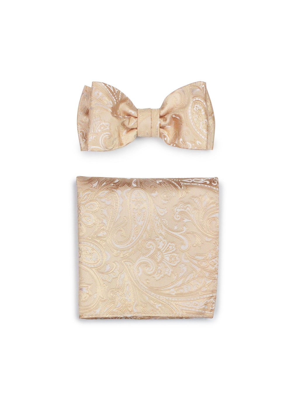 Formal Wedding Bow Tie Set in Golden Champagne