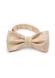 Formal Wedding Bow Tie in Golden Champagne