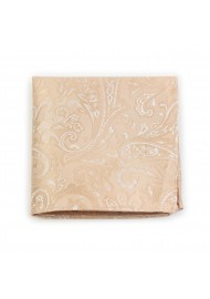 Paisley Hanky in Golden Champagne