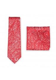 Poppy Paisley Wedding Tie Combo Set