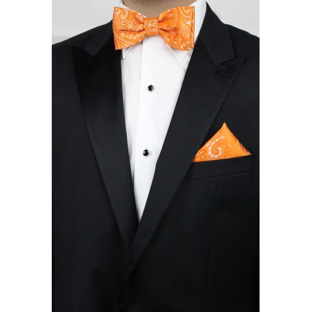 Summer Wedding Bow Tie Set in Mandarin Styled with Tux Jacket