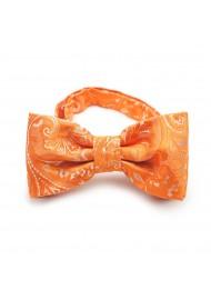 Summer Wedding Bowtie in Mandarin