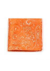 Paisley Weave Pocket Square in Mandarin