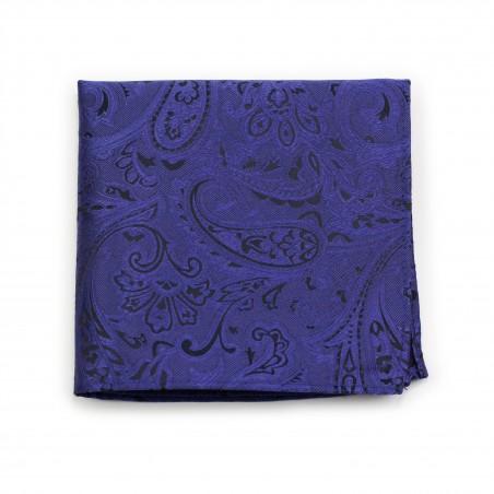 Paisley Design Hanky in Ultramarine