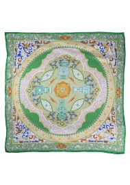 Persian Print Ladies Scarf in Green and Cream