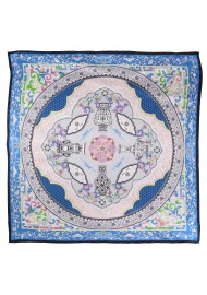 Blue and Aqua Persian Print Ladies Scarf