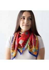 Women's Designer Silk Scarf Styled