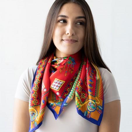 Women's Silk Designer Scarf Styled