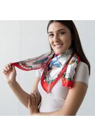 Women's Silk Scarf Styled