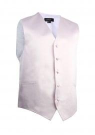 Formal Satin Fabric Dress Vest in Blush Pink