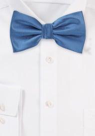 Steel Blue Mens Bow Tie