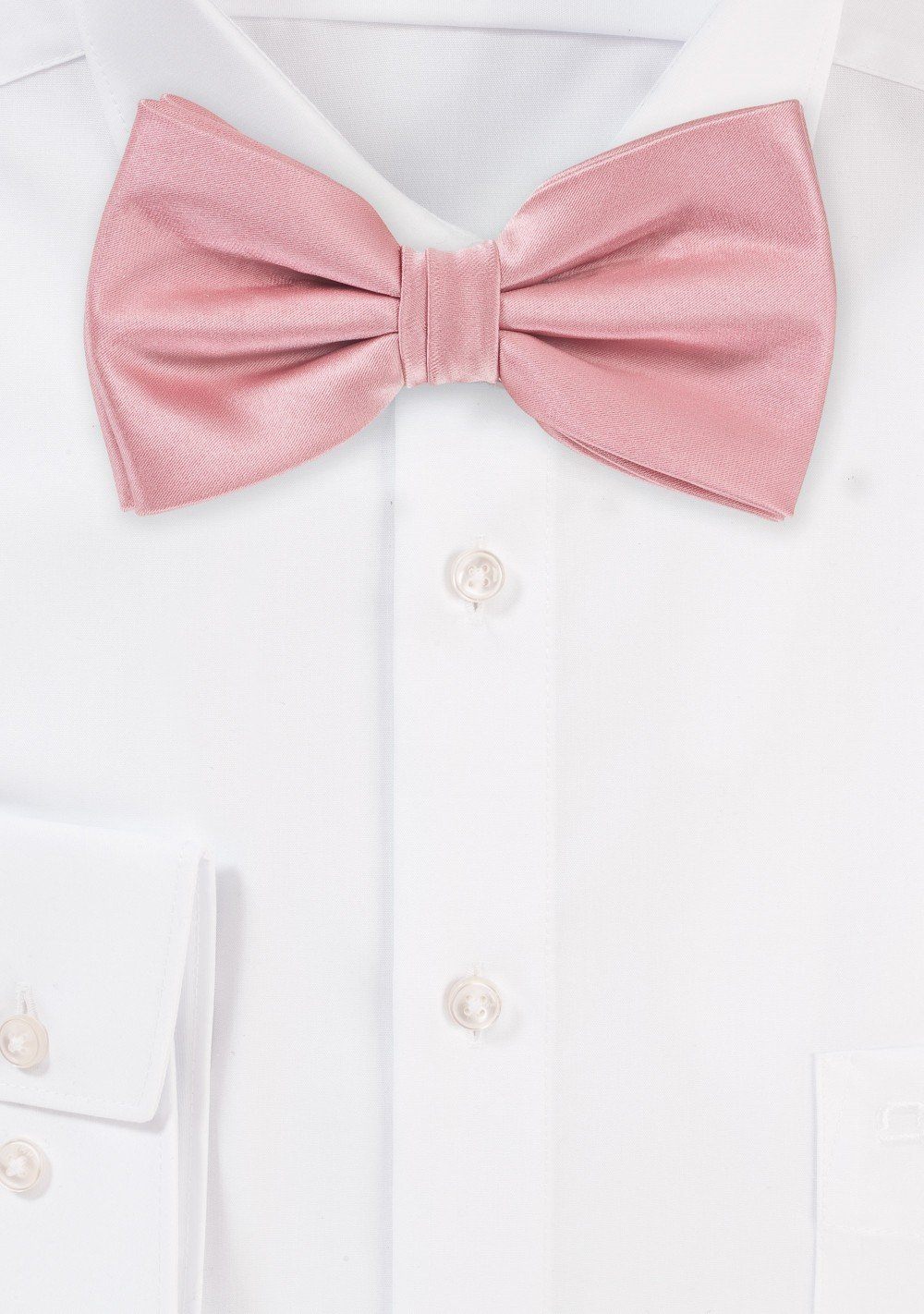 Pre-Tied Bow Tie in Soft Pink
