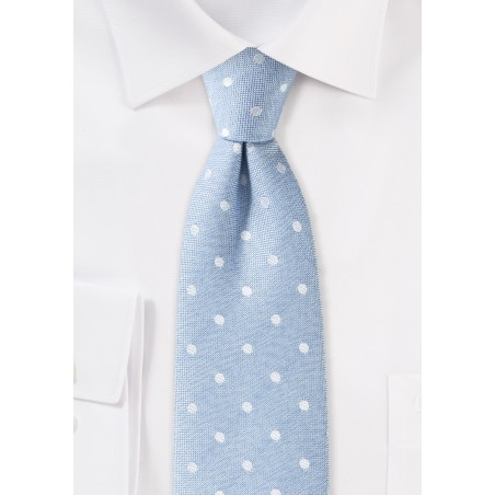Powder Blue Polka Dot Summer Tie