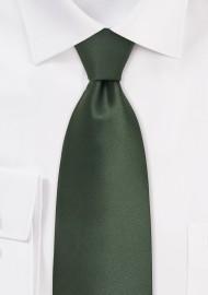 Dark Hunter Green Silk Tie in Solid Color