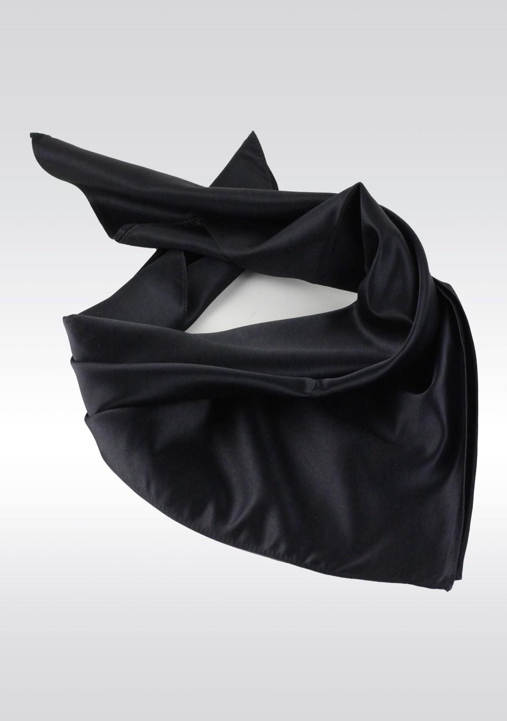 Satin Women's Scarf in Jet Black