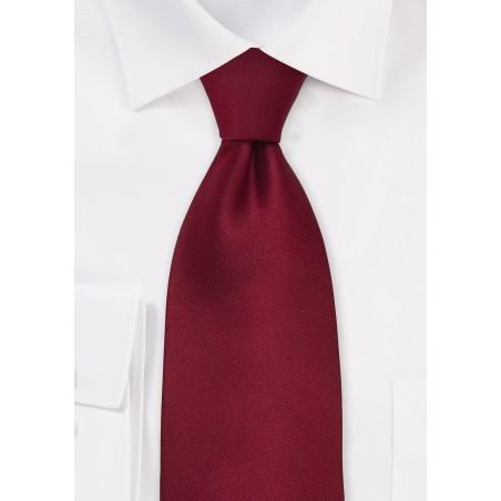 Kids Silk Tie in Cherry Red