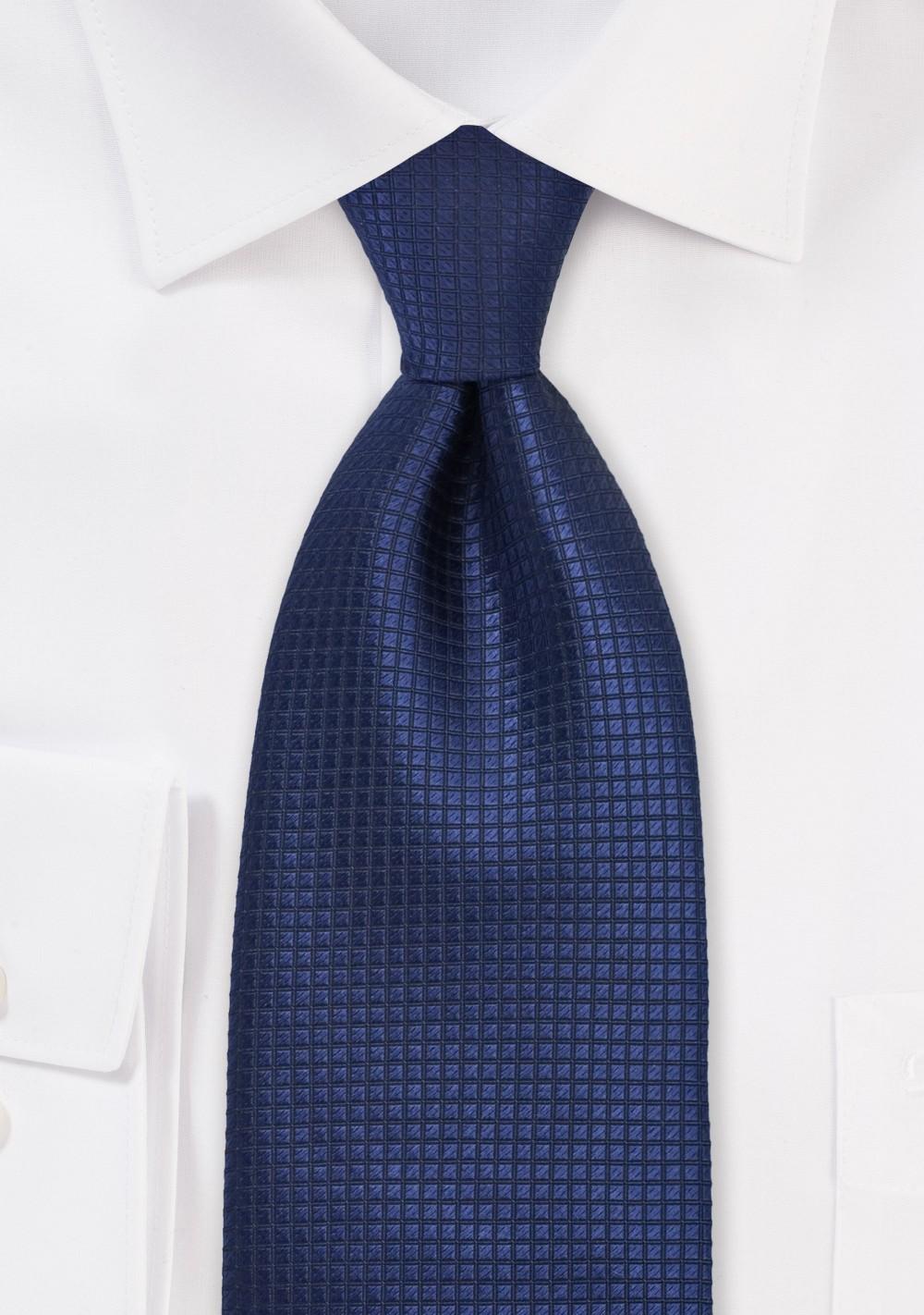 Sapphire Blue Colored Kids Silk Tie