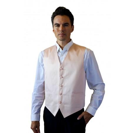 Antique Blush Formal Satin Vest Styled