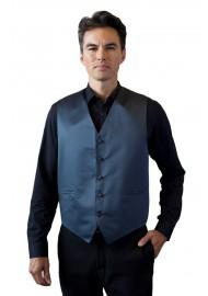 Charcoal Formal Satin Vest Styled