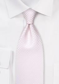 Micro Check Necktie in Soft Blush