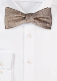 Self Ties Floral Bow Tie in Bronze Champagne