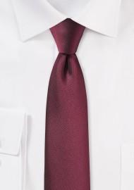 Slim Cut Tie in Burgundy Red