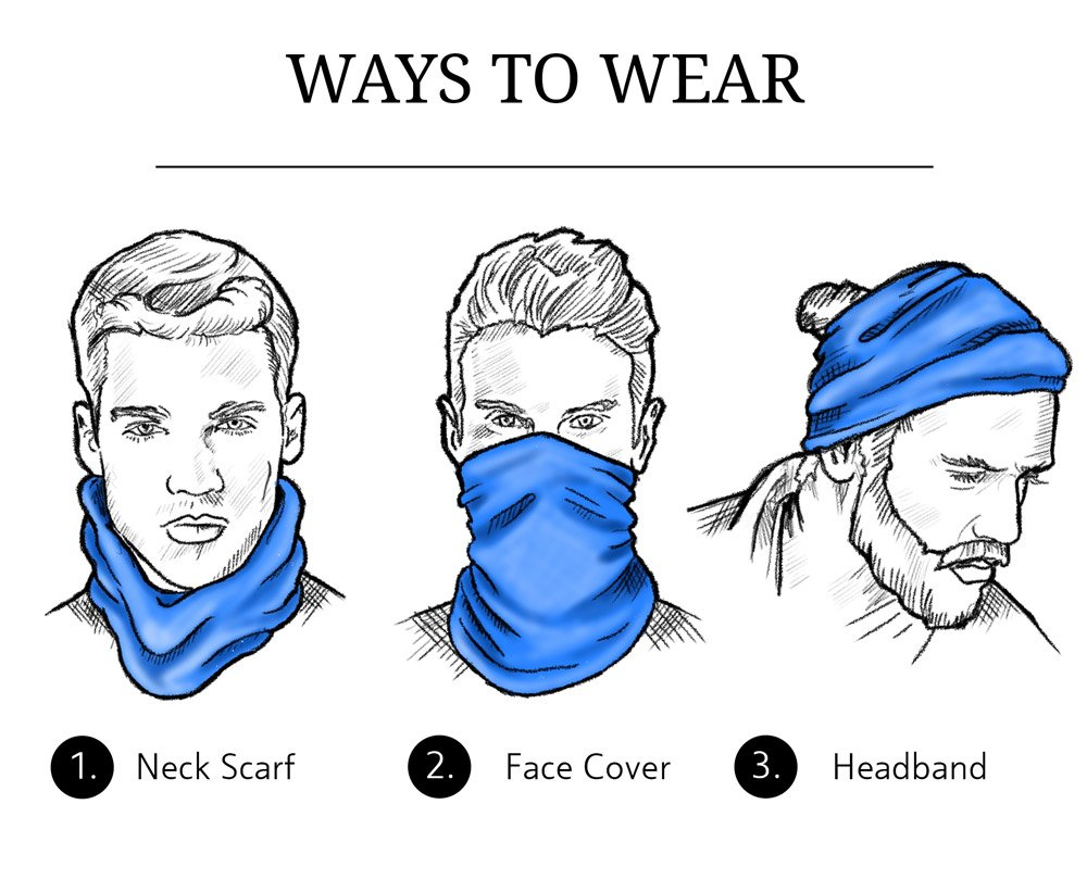 ways to wear gaiter neck scarf