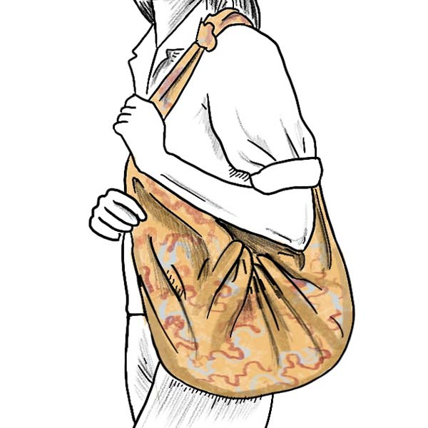 how to fold a womens scarf into a beach bag