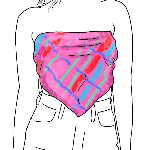 Scarf top how to wear a ladies silk scarf