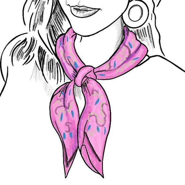 shoulder volume scarf fold ladies