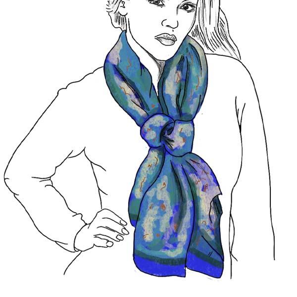 silk scarf winter knot