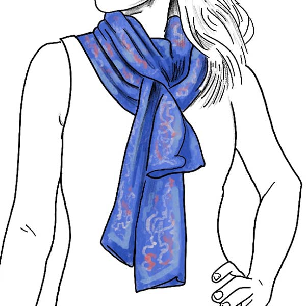 euro knot ladies silk scarf folding instructions