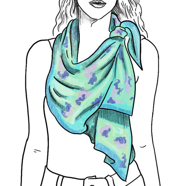 classic ladies silk scarf knot instructions