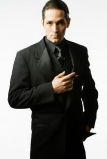 Back in men 39 s fashion how to use black effectively on for Black suit with black shirt and tie