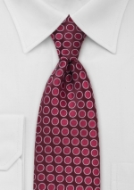 cherry-red-designer-silk-tie