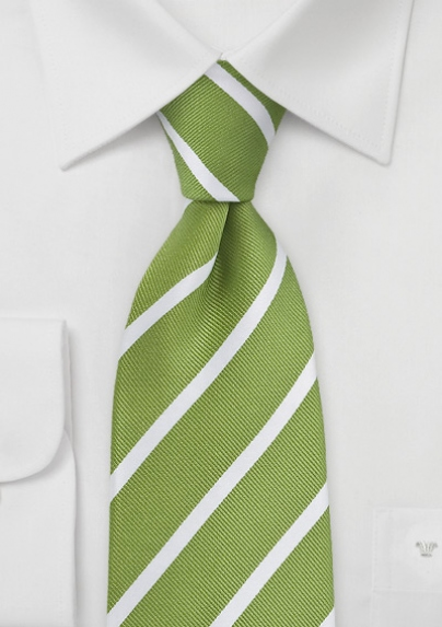 striped-tie-grass-green-white