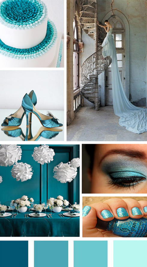 Groom groomsmens attire for teal weddings bows n tiescom for Teal wedding theme ideas