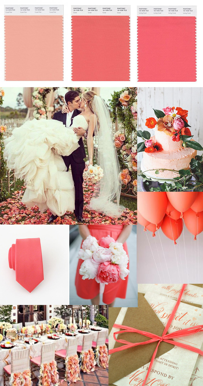 Featured Wedding Color Coral