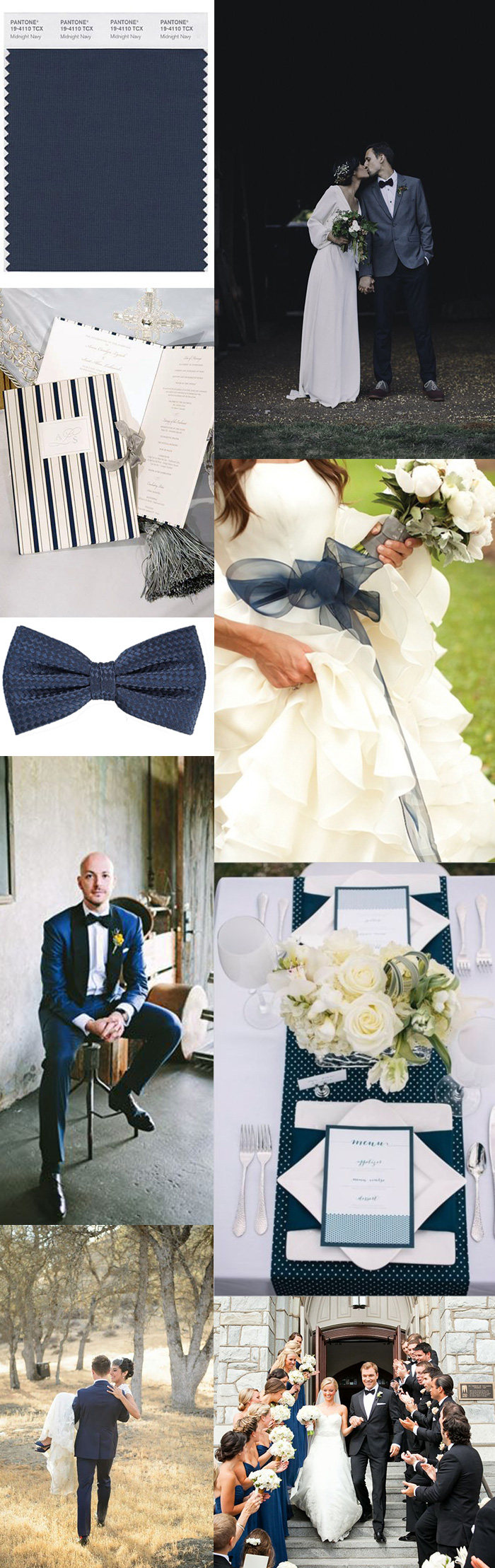 Wedding Color Inspiration – Navy Blue | Bows-N-Ties.com