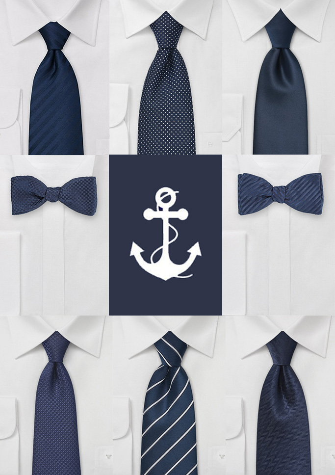 Dark Navy Blue Wedding Tie