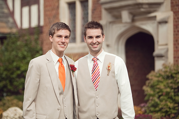 Solid and Striped Wedding Ties