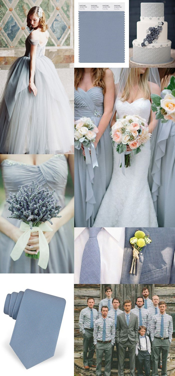 Wedding Inspiration For The Color Dusty Blue