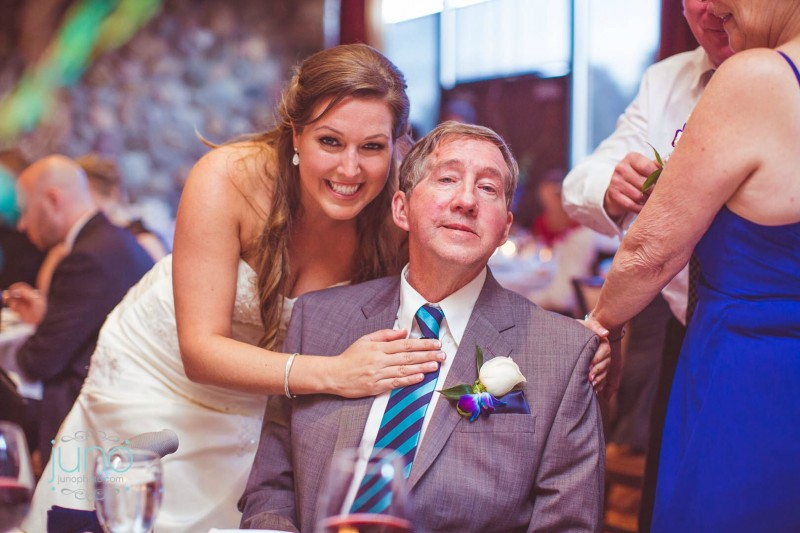 Bride and Her Dad in Striped Tie from BNT