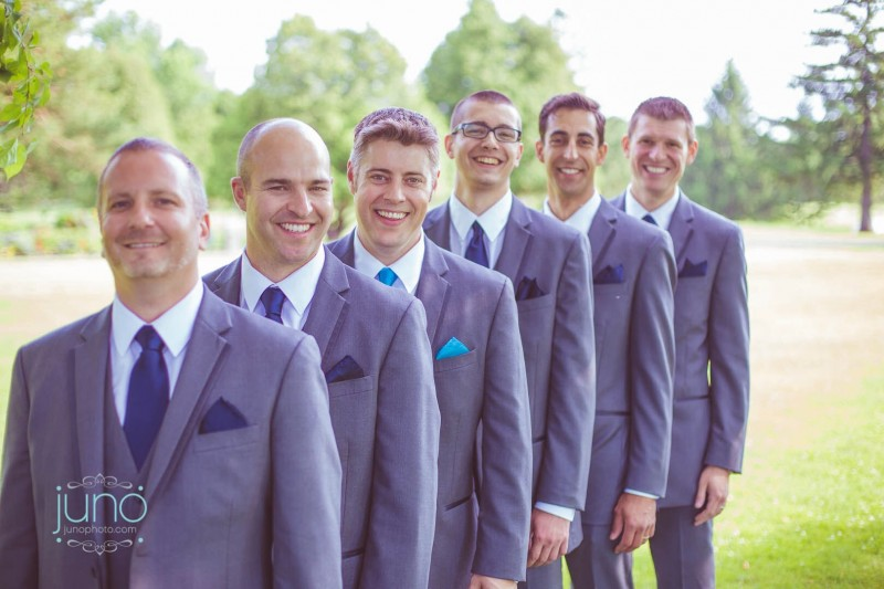 Groomsmen in Blue Ties